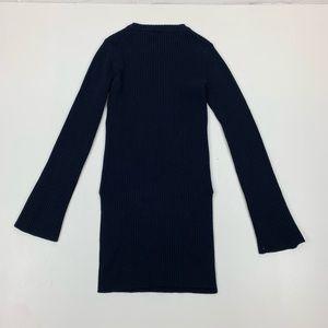 Maje Sweaters - Maje Blue Tunic Bell Sleeve  Sweater